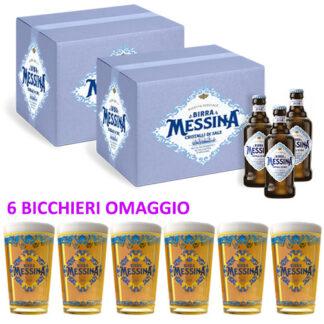 2 Birra messina + 6 bicchieri omaggio
