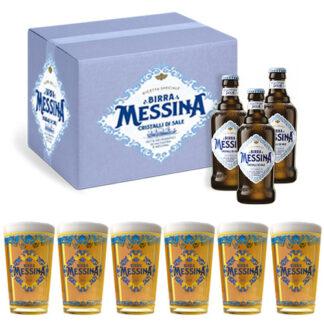 Birra messina + 6 bicchieri