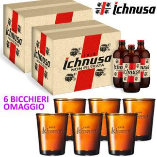 2 Birra Ichnusa Non filtrata + Bicchieri