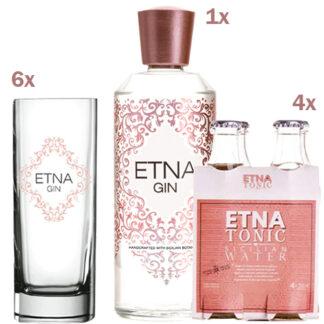 Gin Tonic con Etna Gin, Etna Tonica e Bicchieri Highball Gin Etna