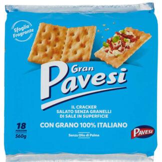 Crackers Gran Pavesi Non Salati gr 560 (In superficie)
